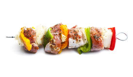 Shish kebab on skewers Royalty Free Stock Photo