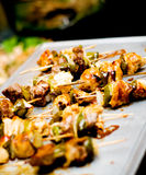 Shish Kebab Tray Royalty Free Stock Photos
