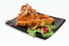 Shish kebab van varkensvlees Royalty-vrije Stock Afbeeldingen
