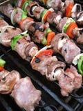 shish kebabs решетки Стоковая Фотография