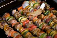 shish kebabs решетки Стоковое фото RF