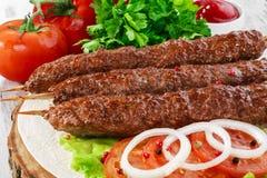 Shish kebabs Arkivfoto
