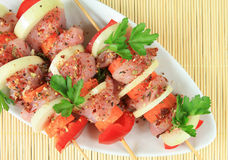 Shish kebabs Stock Photo