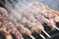 Shish kebabs on skewers Royalty Free Stock Photo