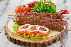 Shish kebabs Royalty Free Stock Photography