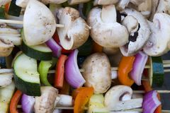 shish kebabu warzyw obrazy stock