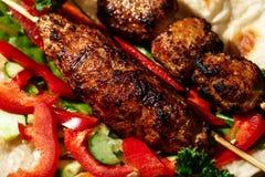 Shish kofte kebab Royalty Free Stock Image