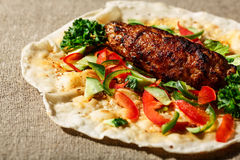 Shish kofte kebab Royalty Free Stock Image