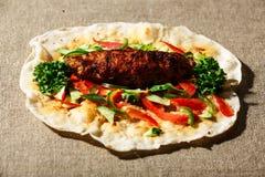 Shish kofte kebab Stock Images