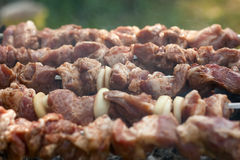 Shish-shish-kebab Στοκ εικόνα με δικαίωμα ελεύθερης χρήσης