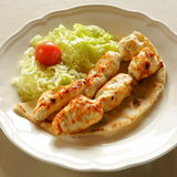 Shish tawook. Grilled chicken skewers, lebanese cuisine Royalty Free Stock Photography