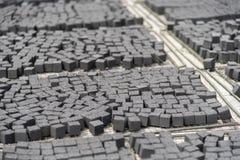 shisha的碳化的椰子壳木炭 免版税库存照片