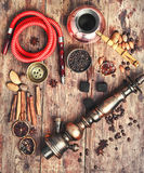 Shisha with coffee Stock Photography