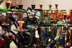 Shisha of different types and colors. Ready for smoking Stock Images