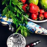 Shisha with fruit flavors Royalty Free Stock Photo