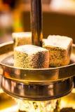 Shisha or narghile charcoal close up Stock Images
