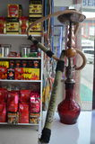 Shisha narghile hookah bong with long hose and nozzle Stock Photo