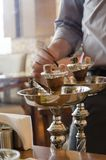 Shisha preparation Royalty Free Stock Image