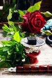 Shisha with the scent of roses Stock Photos