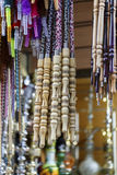 Shisha wooden Pipes Hanging in shop,cairo. Royalty Free Stock Image