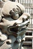Shishi, Chinese Guardian Lion Statue Details Stock Image