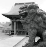 Shishi dog. In front of japanese shrine, misawa japan Royalty Free Stock Photos