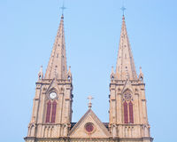 Shishi Sacred Heart Cathedral in Guangzhou Stock Photos