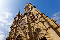 Shishi Sacred Heart Cathedral in Guangzhou China. Royalty Free Stock Images