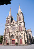 Shishi Sacred Heart Cathedral in Guangzhou,China. Shishi sacred heart cathedral is the most magnificent Catholic parishes in guangzhou, the most characteristic Royalty Free Stock Photography