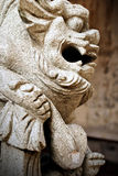 Shishi, a Traditional Chinese Guardian Lion Statue Stock Images