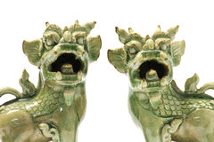 Shishi, Twin guardian lions Royalty Free Stock Photos