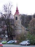 ` Shishka ` steenkerk in Ljubljana, Slovenië stock afbeelding