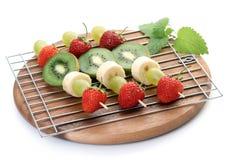 Shishkabobs Fruity imagem de stock