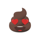 Shit emoji. Poo emoticon. Poop face isolated. stock illustration