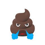 Shit emoji. Poo emoticon. Poop  face isolated. Stock Image