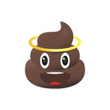 Shit emoji. Poo emoticon. Poop face isolated. Royalty Free Stock Photos