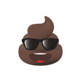 Shit emoji. Poo emoticon. Poop face isolated. Royalty Free Stock Photography