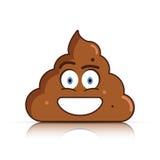 Shit emoji. Poo emoticon. Poop face. Vector. Illustration Stock Images