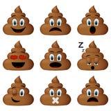 Shit icon set, emoticons isolated on white background Stock Image