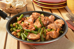 Shitake Mushroom Chicken Stock Photo