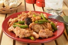Shitake Mushroom Chicken Stir Fty Stock Images