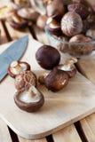 Shitake mushroom prepare for cooking Stock Photo