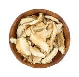 Shitaki Mushrooms Top View Stock Image