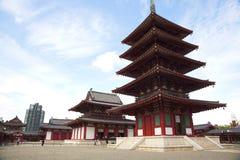 Shitennoji寺庙在大阪,日本 图库摄影