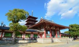 Shitennoji寺庙在大阪,日本 免版税库存照片