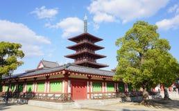 Shitennoji寺庙在大阪,日本 库存图片