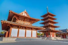 Shitennoji寺庙在大阪 免版税库存图片
