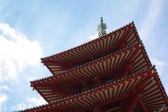 Shitennoji寺庙在大阪 免版税库存照片