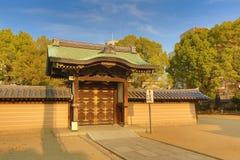 Shitennoji寺庙在Tennoji病区,大阪里 免版税库存照片