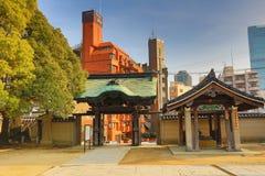 Shitennoji寺庙在Tennoji病区,大阪里 库存图片